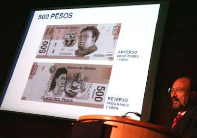 Billete diego rivera y frida Kahlo