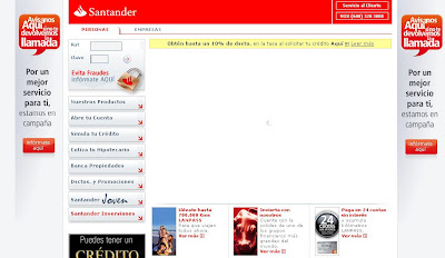 Intento de fraude con Santander.cl