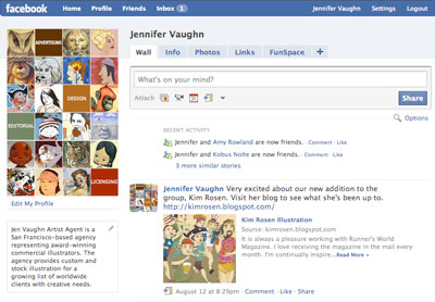 Jen Vaughn Artist Agent - Commercial Illustration - Facebook