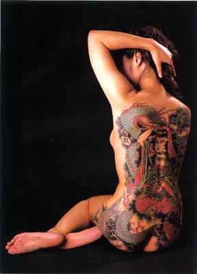 Woman Full Body Tattoo