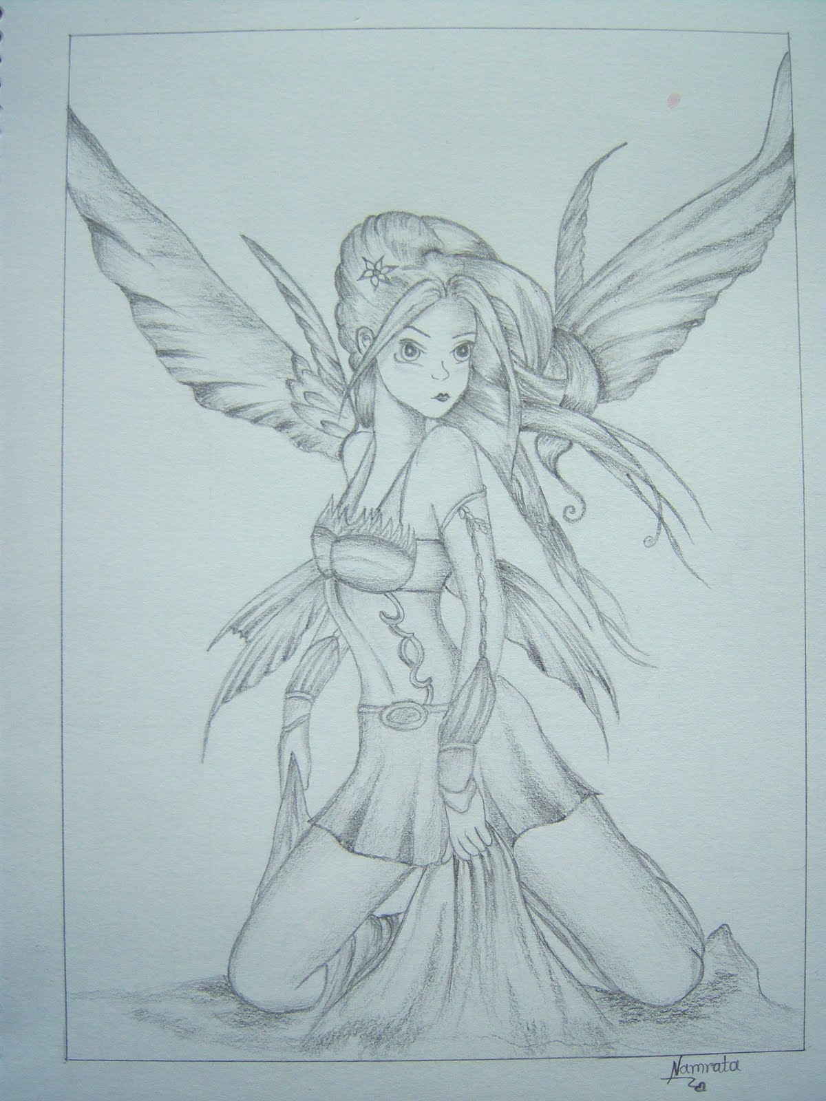 Namrata's Sketches & Art: Angel Sketch