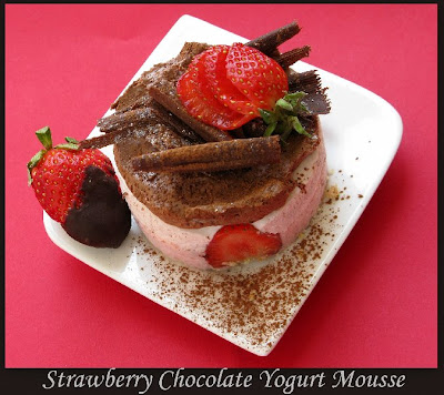 Strawberry chocolate yogurt mousse mini-cakes, Recipe by Vindee ...
