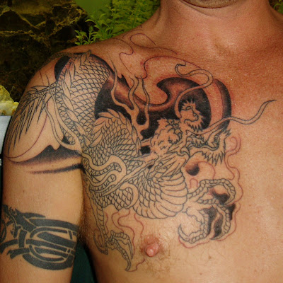 mens tattoos. Dragon Tattoos Men.