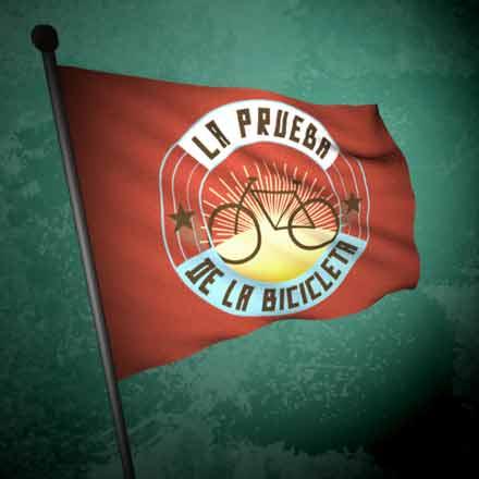 bandera de la prueba de la bicicleta