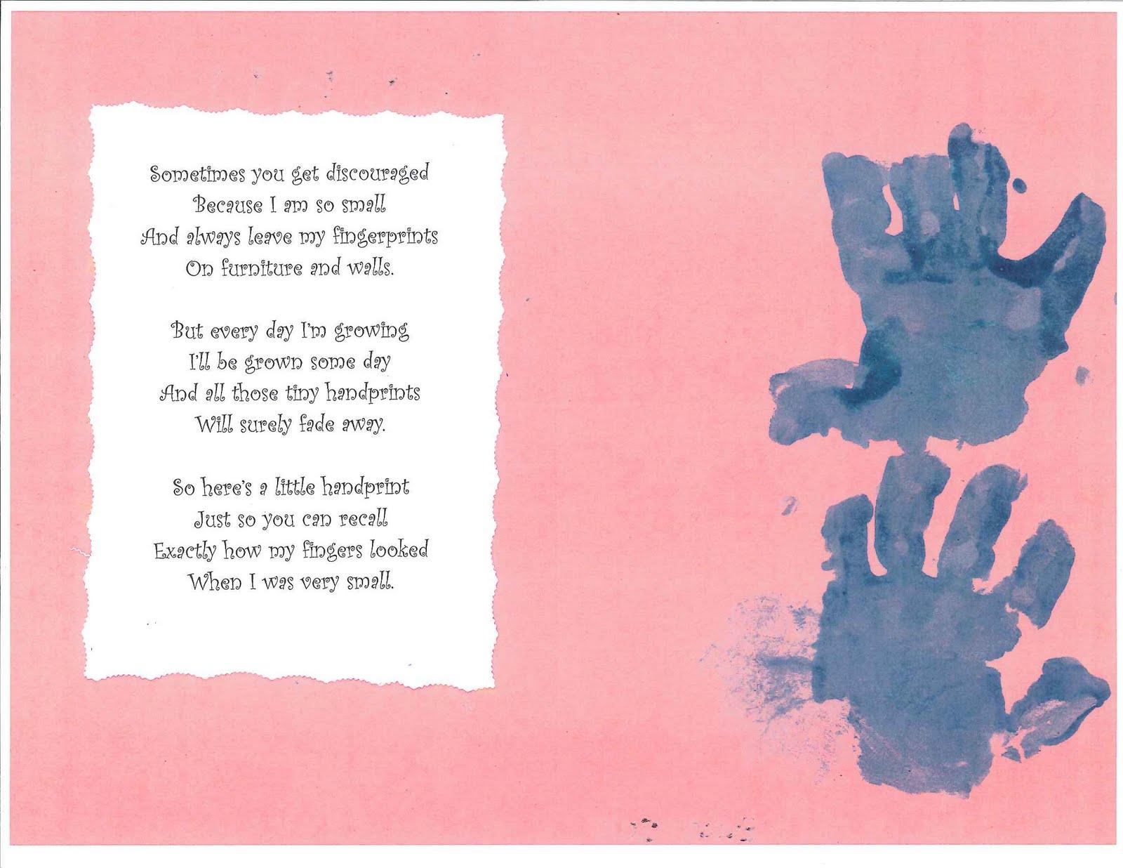 Mothers Day Handprint Poem. Handprint Poems For Grandparents Templates ...