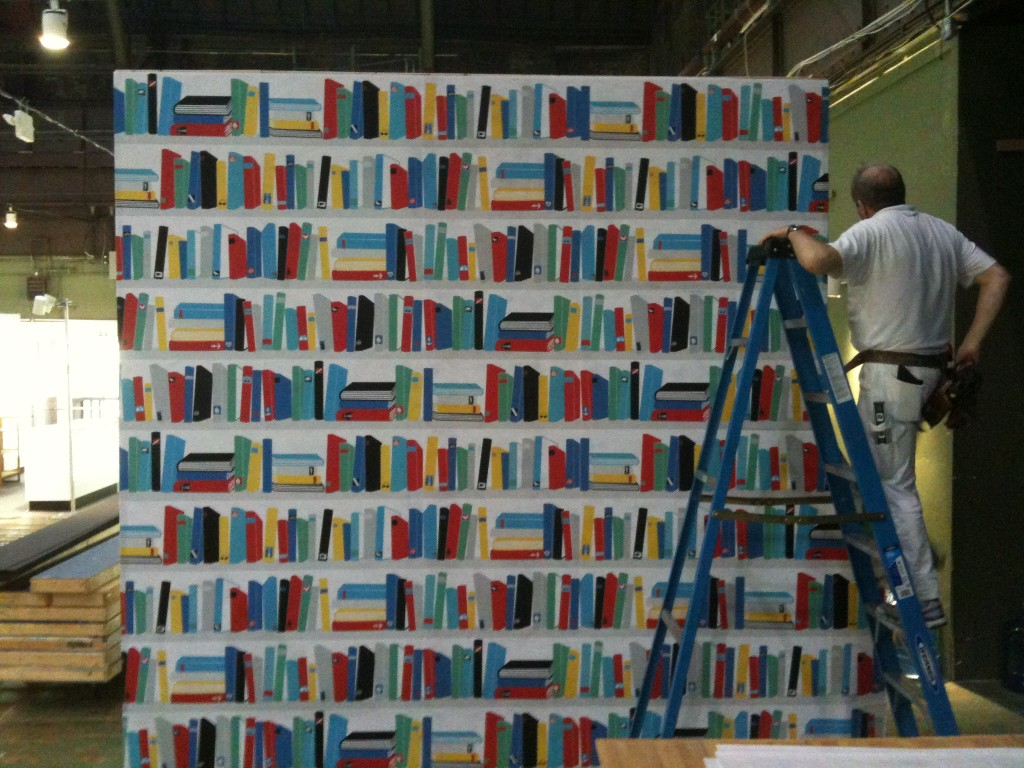 Bookshelf Wallpaper. Posted by Jim Watts