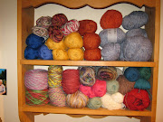 My small knitting yarn stash.
