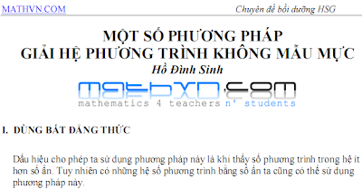 Phuong phap giai he phuong trinh khong mau muc - ho dinh sinh