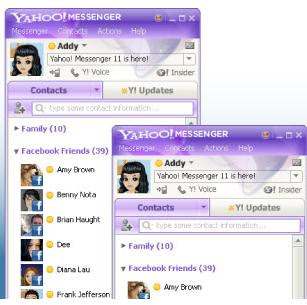 Yahoo Messenger 11 dengan Facebook Chat