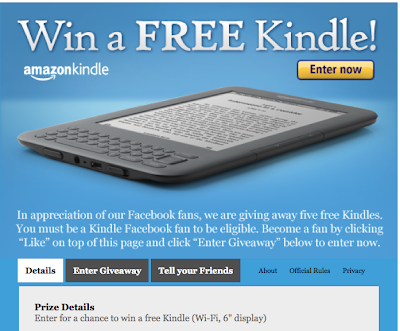Final Hours for Amazon's Giveaway of 5 Free Kindles