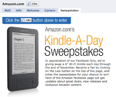 Amazon's Kindle-a-Day Giveaway Sweepstakes Runs Through November 30