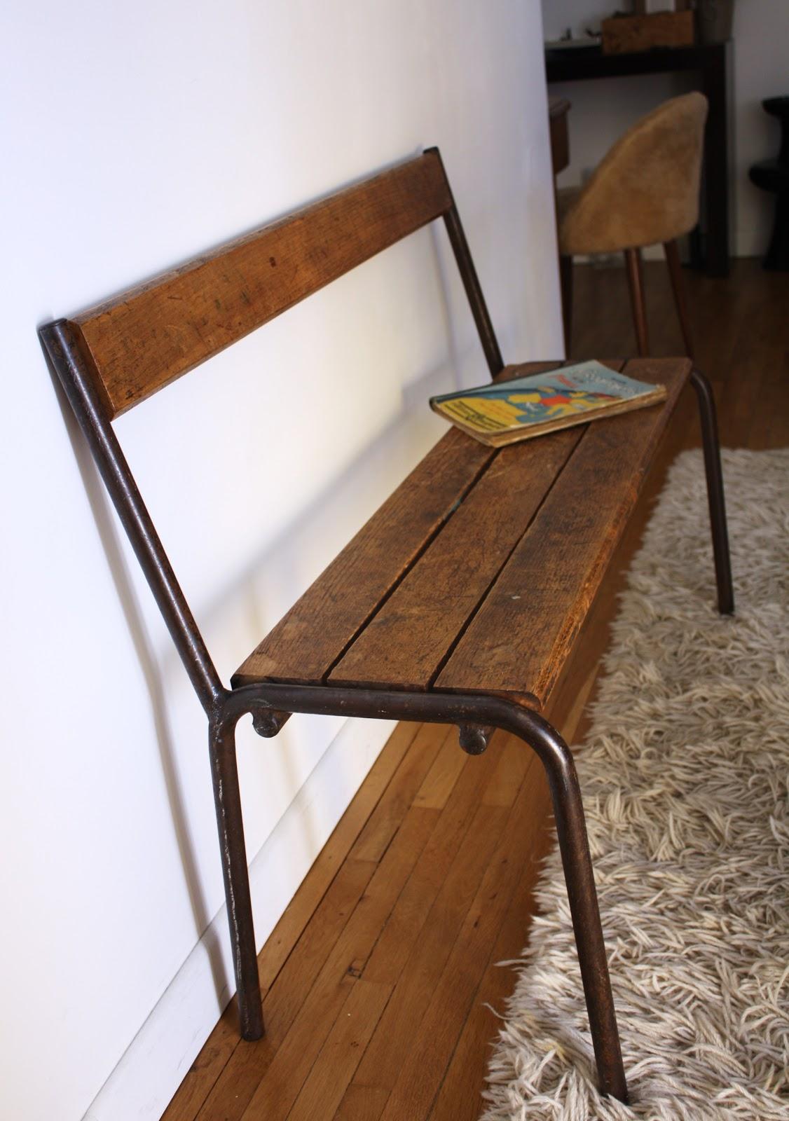 past present ancien banc d 39 cole. Black Bedroom Furniture Sets. Home Design Ideas