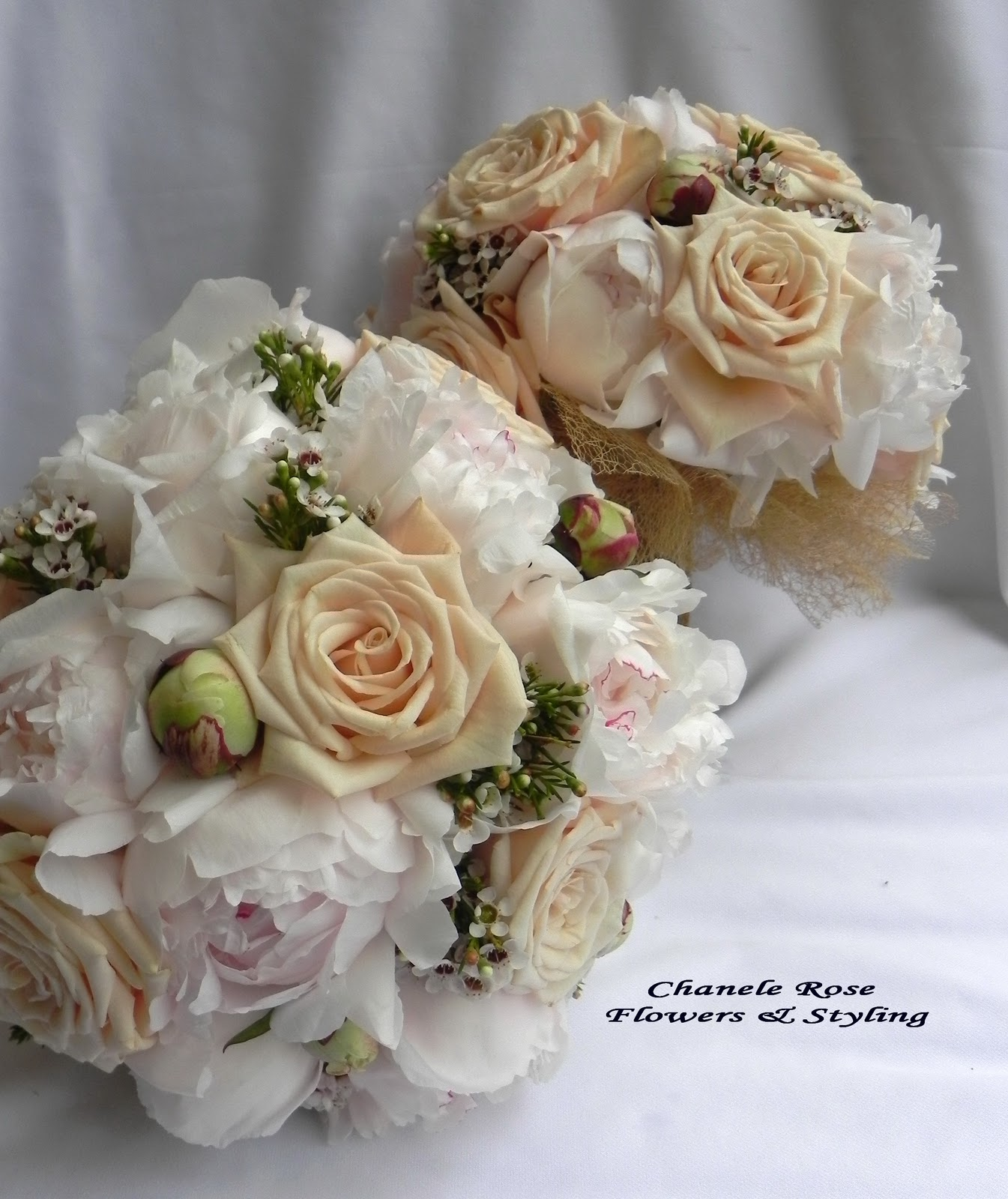 Peony Wedding Flowers Bouquets In Champagne Chocolate
