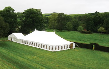 Traditional poled marquee