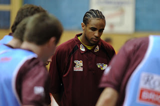 Jermaine Williams watches on during the Bandits game against Canberra
