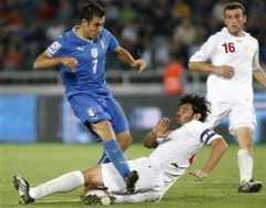 Kaladze: dos goles en contra contra Italia