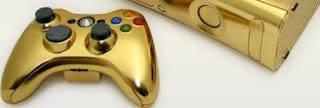 Xbox 360 bañada en oro