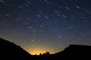 Lluvia de estrellas perseidas y alineación planetaria