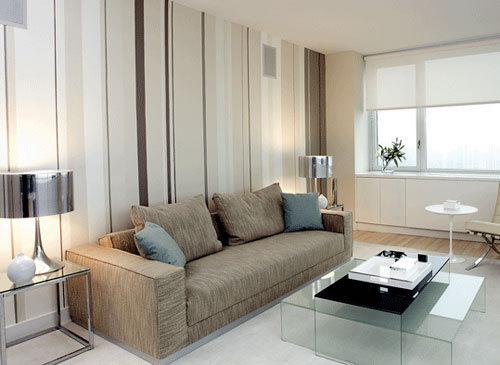 Tanto na moda como na decoração as listras sempre ajudam a dar uma sensação de espaço na sua sala