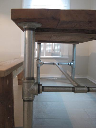 Casa coisas tal canos for Diy galvanized pipe table