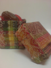 Songket square box for 3pcs