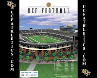 2007 UCF Knights football schedule with an artists rendering of the football stadium centered.