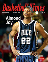 Rice basketball player on magazine cover.