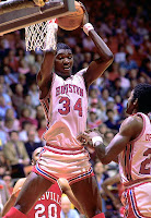 Hakeem Olajuwon in University of Houston uniform.