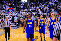 San Jose basketball players on the court.