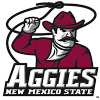 New Mexico State Aggies mascot with lasso rope.