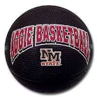 Black Aggie basketball NM State.