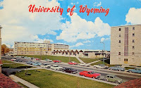 Drawing of 1950s University of Wyoming campus.