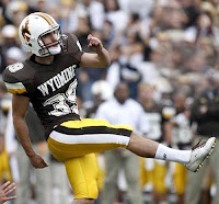 Wyoming football player kicker.