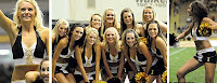 Idaho Vandals cheerleaders.