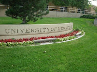 University of New Mexico sign on campus.