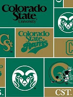 Green and gold Colorado State pattern for desktop background.