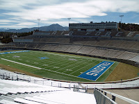 Air Force football stadium empty.
