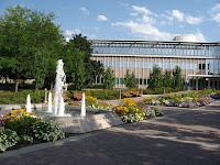 Fountain on BYU campus.