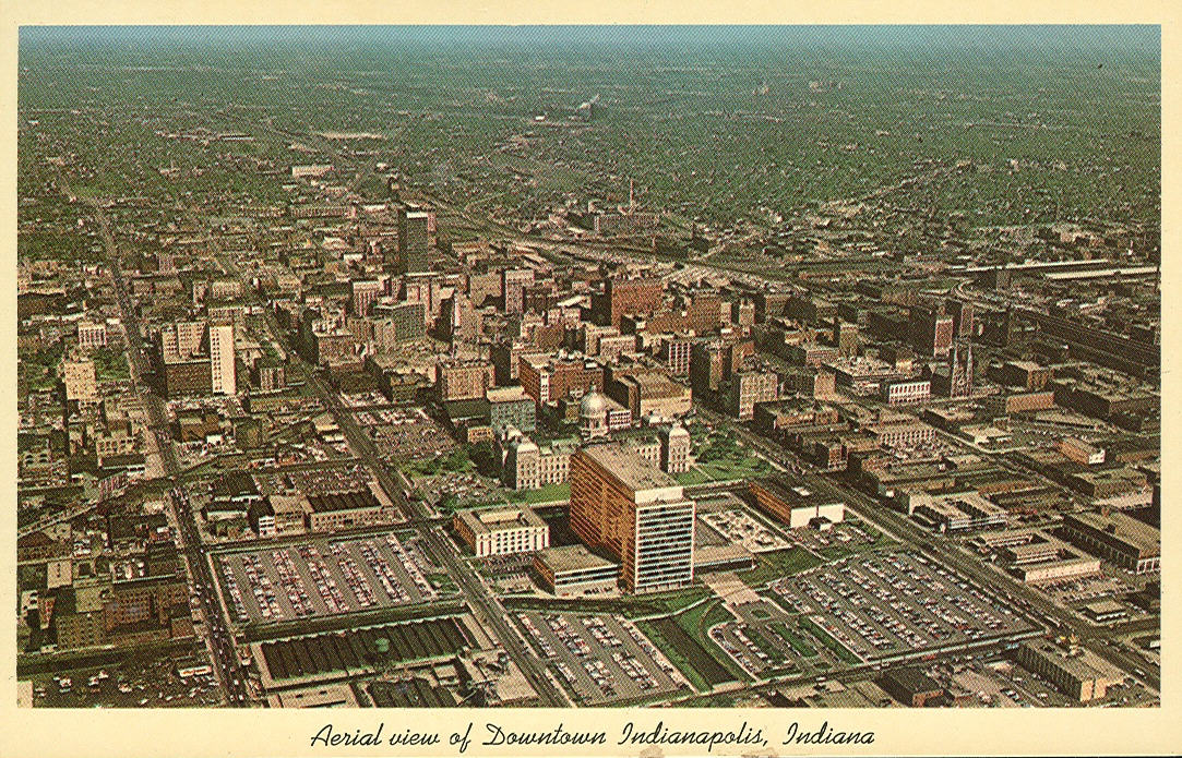 Vintage Travel Postcards: Indianapolis, Indiana