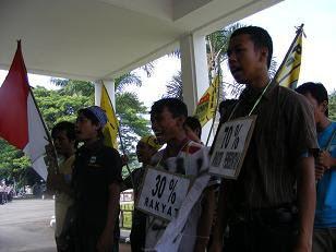 Aksi Penolakan Draft APBD Kab. Subang 2010