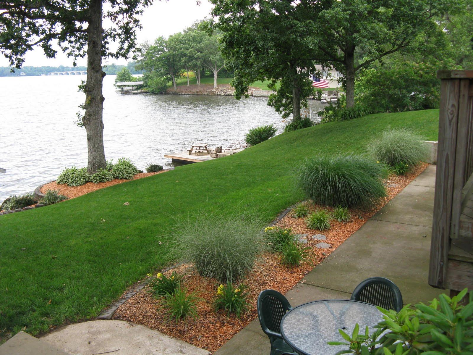 Lake House Backyard Design : Lake Springfield IL Lake Home