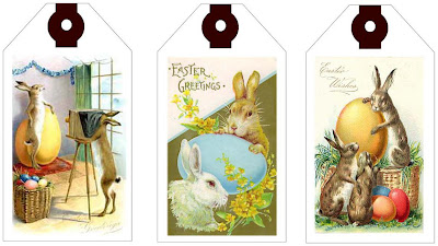 Mixed bag of treats april 2009 get some free adorable vintage easter gift tags to print here at ewe n me printables negle Choice Image