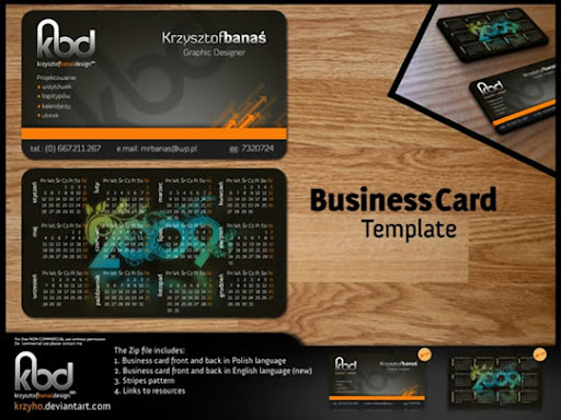Business+Card+Template+by+Krzyho Business Card Design: Useful Tutorials, Source Files and Templates