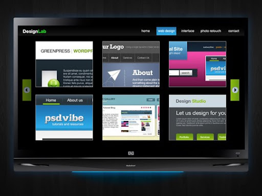 Design+Lab+TV+Styled+Layout 40 PSD to XHTML, CSS Tutorials to Create Web Layouts