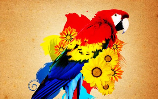 Tutorial+Beautiful+Parrot+Photo+Manipulation+in+Gimp 100+ Exceptional GIMP Tutorials and Resources