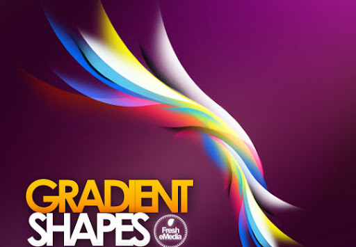 gradientshapes 1000+ Beautiful Abstract Light Photoshop Brushes for Light Effects