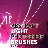 Beautiful Abstract Light Photoshop Brushes for Light Effects