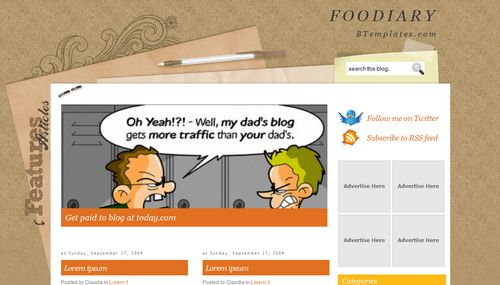 Foodiary Blogger Toolbox: Fresh, Free and Stunning Blogger Templates