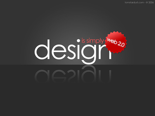 "Design+is+simply+Web+2.0 70+ Super Creative Wallpapers ""About Design"""