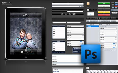 iPad+GUI+PSD 7 Useful Apple iPad PSD GUI Packs for Designers